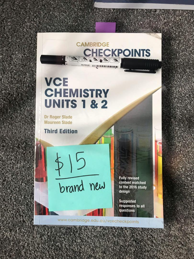 VCE unit 1/2 CHEMISTRY checkpoints, Textbooks on Carousell