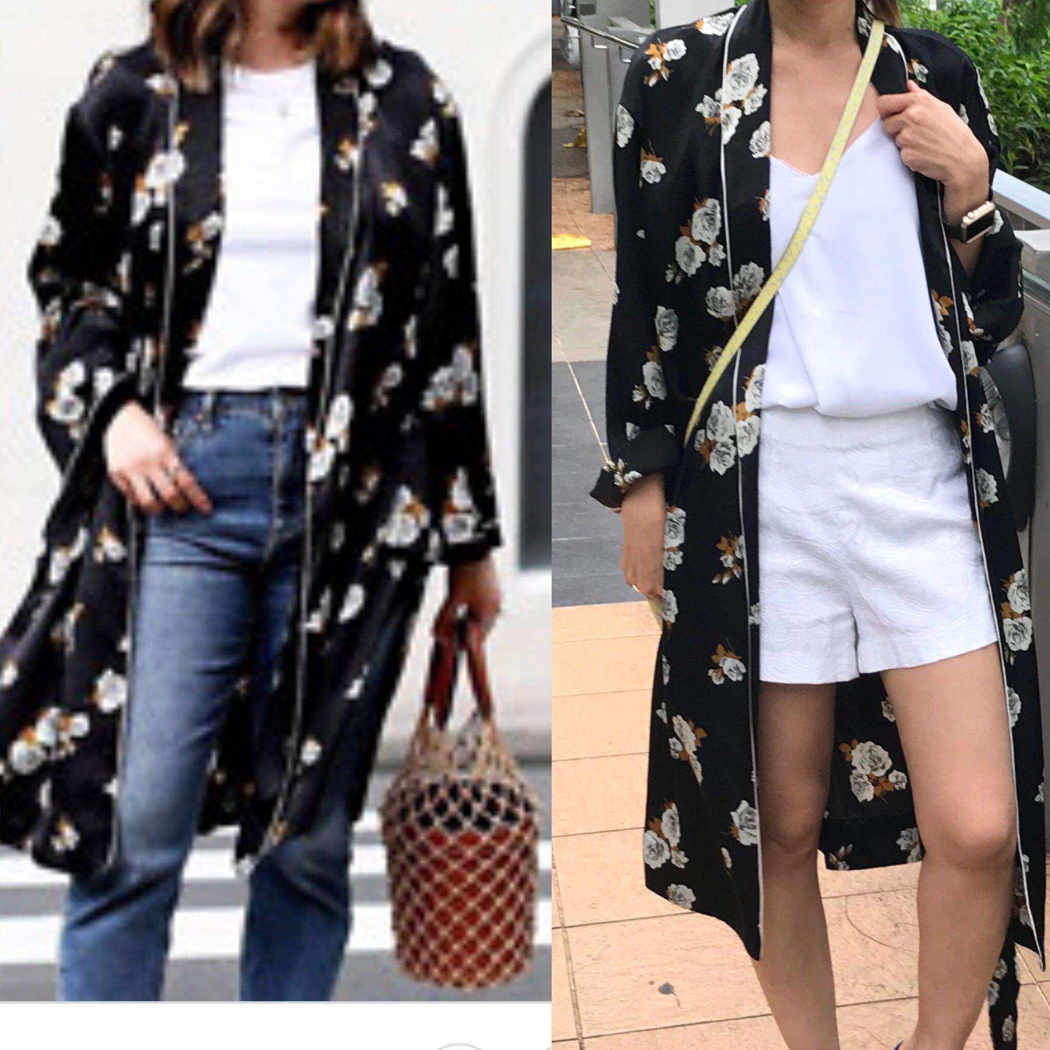 63a9cc1b5 Zara kimono floral dress, Women's Fashion, Clothes, Outerwear on ...