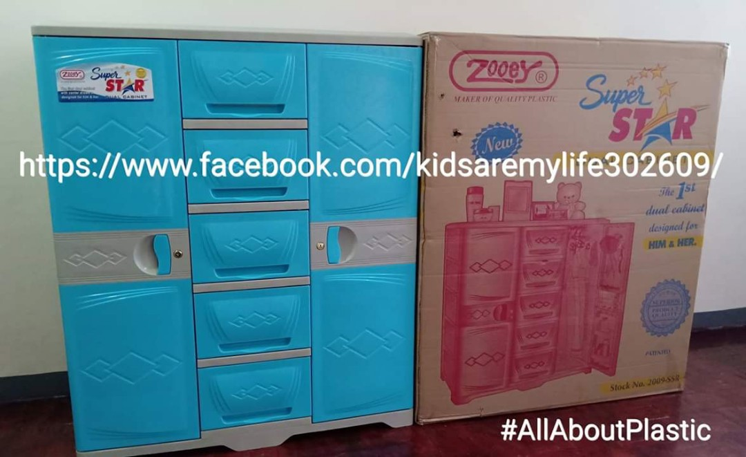 Zooey Super Dual Cabinet Home Furniture On Carousell