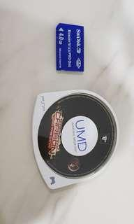 Need for Speed PSP game n memory stick with games