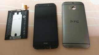 Htc one m8 with new original battery for spare parts