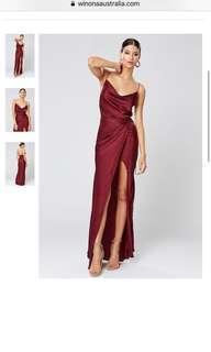 Winona Red Satin Formal Dress