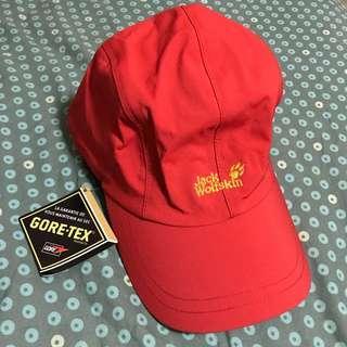 全新Goretex cap Jack Wolkskin 防水透氣帽 waterproof breathable red紅色