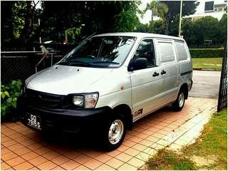 P-plate welcome - Toyota Liteace van for rent