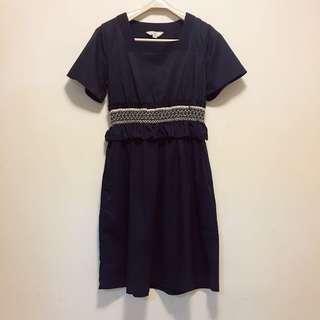 initial Ladies smart black dress