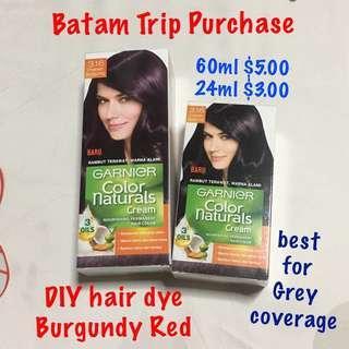 Garnier Natural Colour Cream (DIY hair dye) 3.16 Burgundy Red