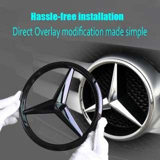 Mercedes Grille Star Emblem/ Badge Overlay trim for GLA, CLA, A,B,C