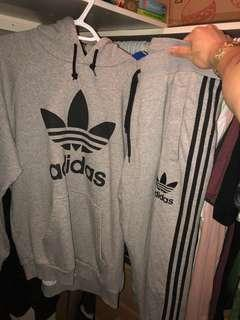 Adidas Tracksuit Sweatsuit Joggers and Hoodie