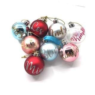 Christmas - Personalised Baubles