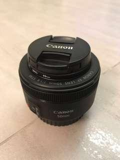 Canon EF LENS 50mm f/1.8 STM with filter