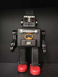 Retro Smoking Tin Toy Robot in box