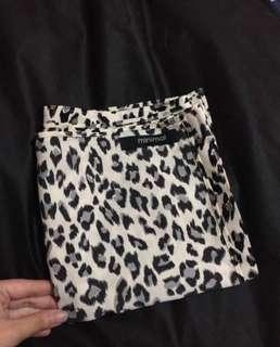 Syal / Scarve motif leopard merk MINIMAL