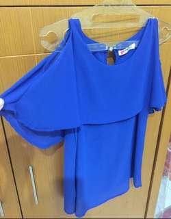 Baju blouse tanktop sabrina open shoulder