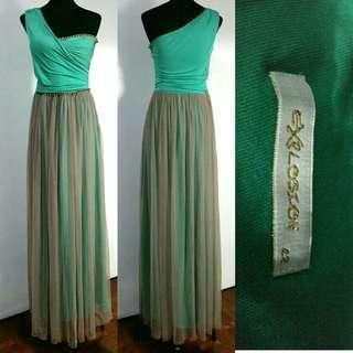 (M - SL) Mint Green Long Dress