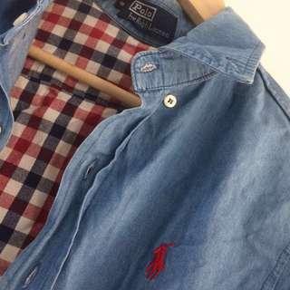 Polo Ralph Lauren Denim Checkered Jacket