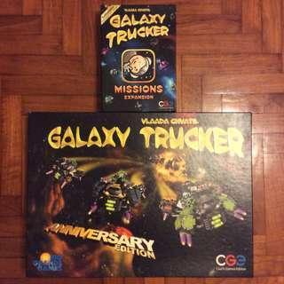 Galaxy Trucker Anniversary Ed + Missions expn board game