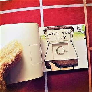 """💍Proposal - Flipbook with a hidden engagement ring compartment - """"Will you marry me?"""" - Surprise"""