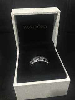 PANDORA silver ring with cubic zirconia