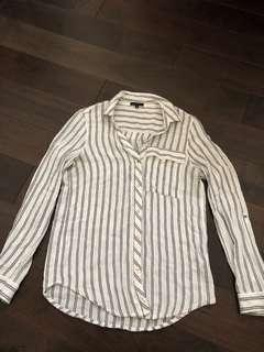 White blouse with stripes