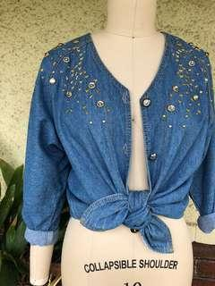 VINTAGE Western Denim Top