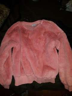 Fashionova pink teddy sweater