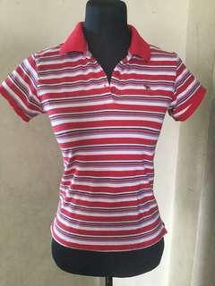 abercrombie red stripes shirt