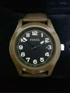 Authentic Fossil Military Green watch for Men - top condition