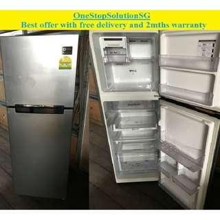 Samsung (243L), 2 doors refrigerator / fridge ($240 + free delivery and 2mths warranty)