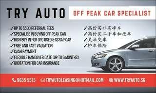 Buy off peak car,  used car,  scrap car!!