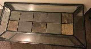 Glass rock marble Coffee table