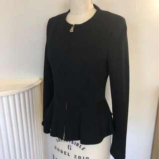 MARCIANO Black Peplum Jacket Size 6 Small Good Condition