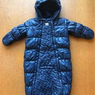MEXX Baby Unisex Navy Blue Snow Suit for 3 - 6 m, Used, Good Condition