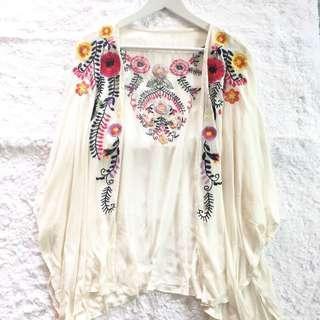 Floral Cotton Kimono Cardigan #OCT10