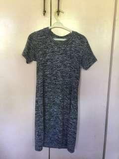 Basic Gray Tshirt Dress