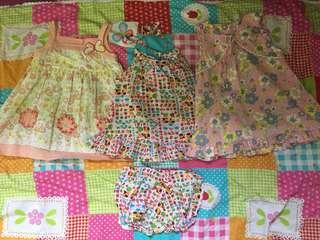 Good deal. Girls cotton set 3x age 1-2 years old