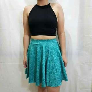 Aqua Blue Skater Skirt