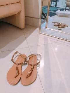 Gold sandals size 36