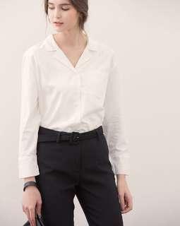藏藍單口袋襯衫