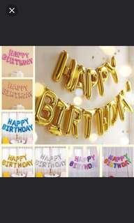 Happy Birthday Balloons banner