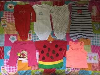 Mix Rompers and baby clothes RM25 for 7 pieces