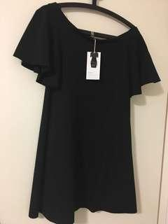 Zara Off Shoulder Black dress - BNWT