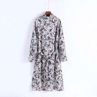 Zara Flora Tunic Dress Size S