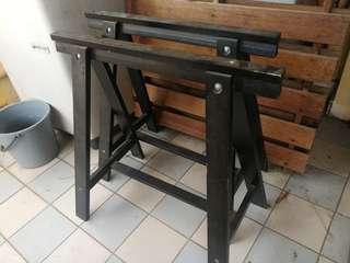 IKEA Oddvald Trestle Black (Table Leg)