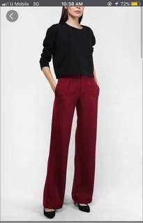 Clothesology ruth wide leg pants