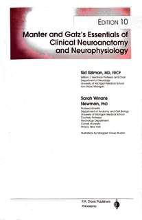 Manter and Gatz - Essentials of Clinical Neuroanatomy and Neurophysiology