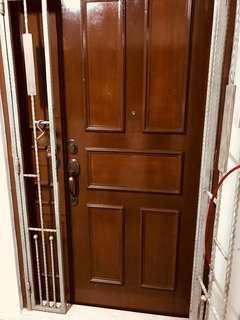 HDB fire rate- 4x 7 ft main door wooden