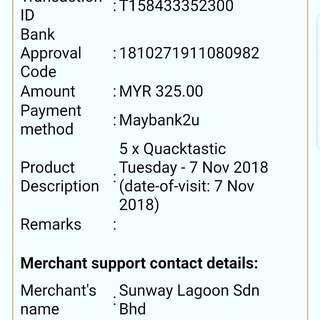 Sunway Lagoon All Park Ticket