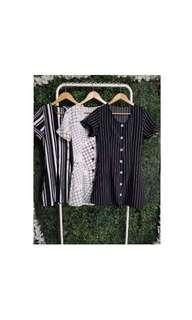 BELA BUTTON DRESS