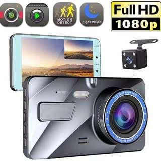 New 1080p FHD Car Front & Rear Reverse Camera - Very Clear Display, Complete Set, Ready Stock