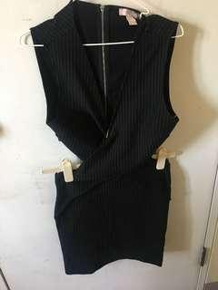 Forever 21 Black Crisscross Dress
